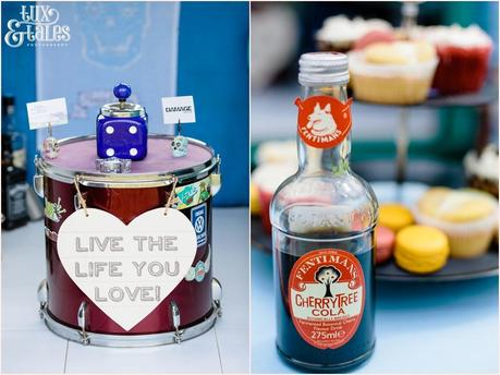 Quirky VW rocker engagement shoot details of cola and a drum