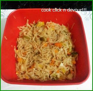 Semiya pulao with chole masala