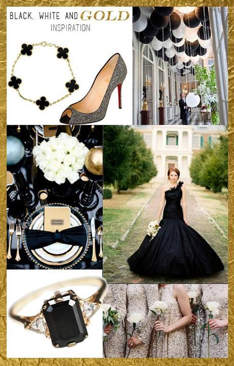 Black White And Gold Wedding Inspiration Paperblog