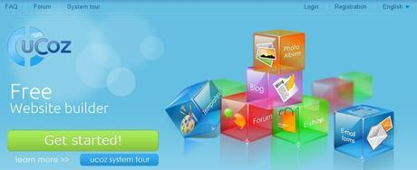 uCoz Online Website Builder