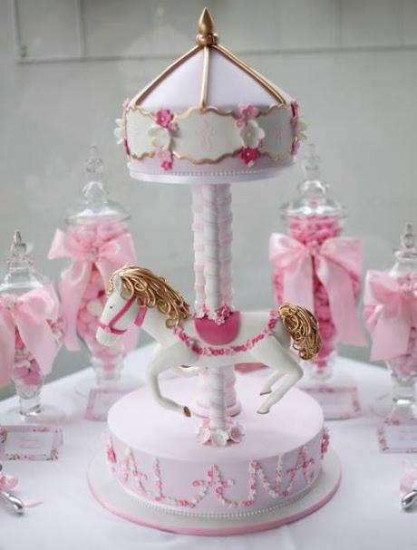 Pink Carousel Themed Christening Party By Le Petit Party