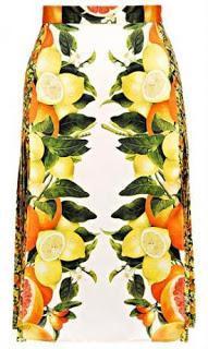 citrus print skirt