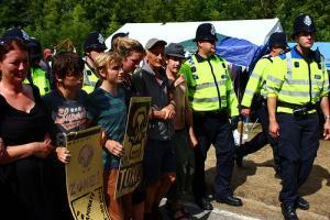 Fracking Protest in Balcombe, earlier this week