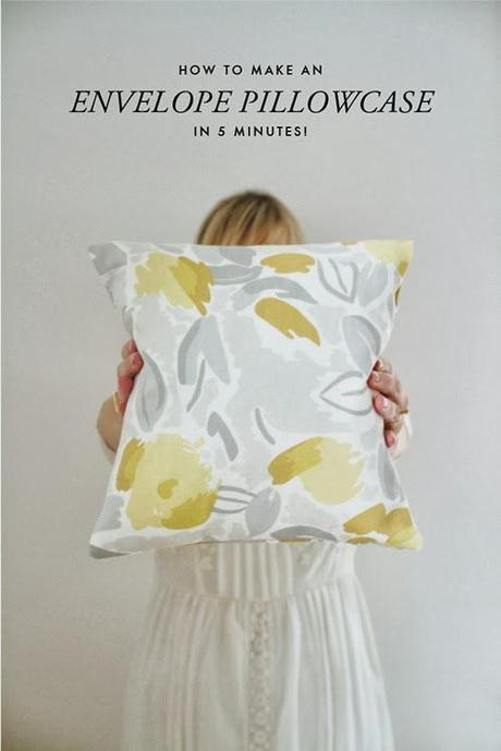 How to make an envelope pillowcase in 5 minutes