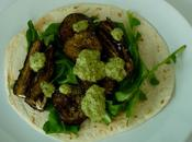 Roasted Aubergine with Basil, Coriander Walnut Salsa