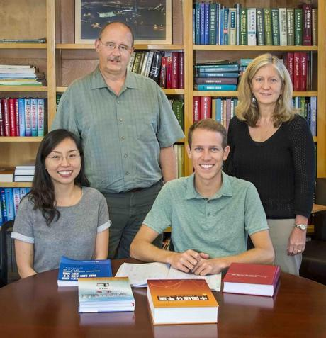 China Energy Group members Hongyou Lu, David Fridley, John Romankiewicz and Lynn Price (left to right) contributed to the 8th Edition of the China Energy Databook. (Photo: Roy Kaltschmidt / Berkeley Lab)