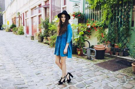 boho look, fedora hat