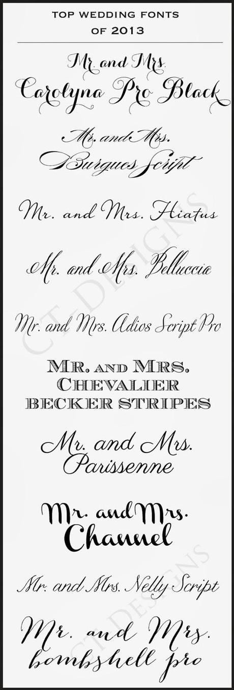 Best Invitation Font for luxury invitation example