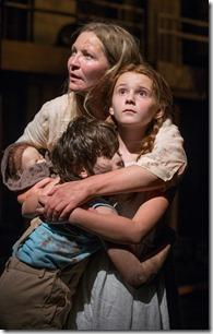 Joan Allen, Emma Gordon and Daniel Pass in Steppenwolf Theatre Company's American-premiere production of The Wheel by Zinnie Harris, directed by ensemble member Tina Landau. (photo credit: Michael Brosilow)