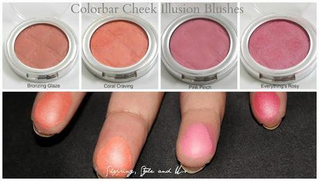 Colorbar Cheek Illusion Blush (Coral Craving, Everything's Rosy, Pink Punch,  Bronzing Blaze)