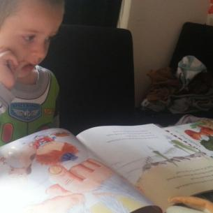 Little Mr A's book review of Spaghetti with the Yeti (& competition!)