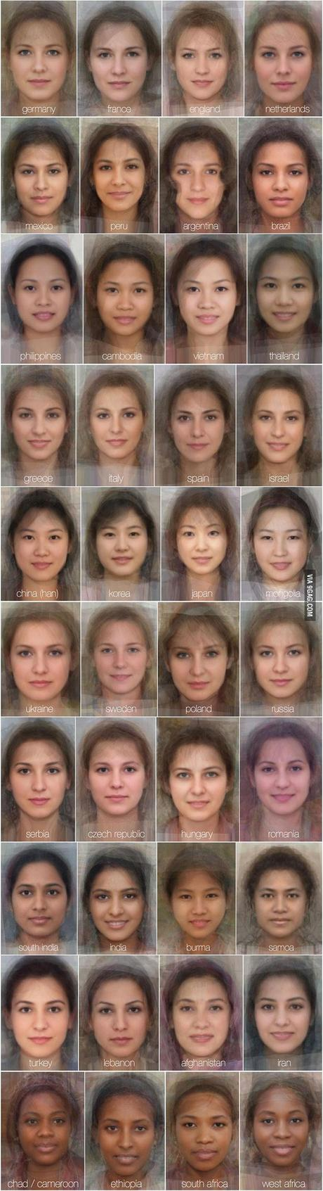 University of Glasgow - average female face from 40 countries - all of them uber-alluring
