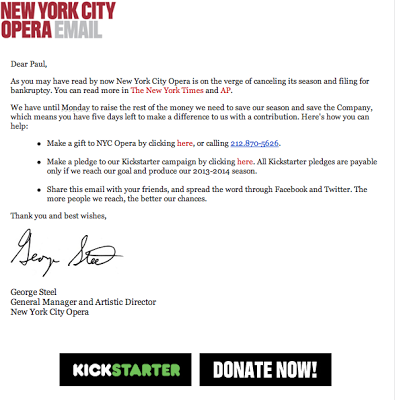 Opera Company Seeks Sugar Daddy