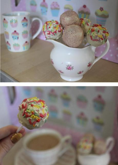 pieday friday vanilla and white chocolate cake pops using baking tray from dunelm mill sweeties