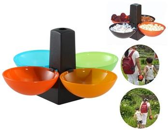 Ball Shaped Snack Bowl with 4 Compartments