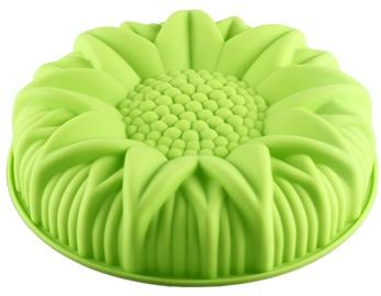 Silicone Sun Flower Shaped Cake Mould (Green)