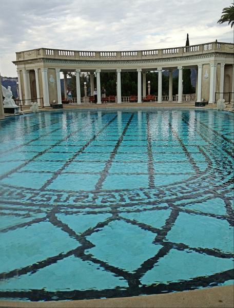 Hearst Castle, Neptune Pool, San Simeon, California, outdoor pool, water, travel photography