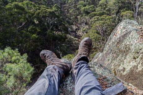 lying down at cowans bluff lerderderg gorge