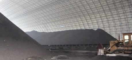 China's largest powdered coal storage area near Huaneng Power Plant in Beijing. (Credit: Flickr @ kafka4prez http://www.flickr.com/photos/kafka4prez/)