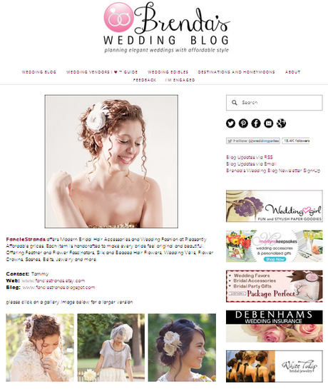Brenda's Wedding Blog Vendor Guide Includes FancieStrands