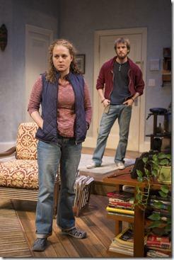 Caroline Neff and Josh Salt in 4000 Miles, Northlight Theatre