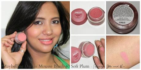 Reveiw and Swatches of Maybelline Dream Mousse Blush 40 Soft Plum by Shopping, Style and Us
