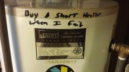 Buy a short water heater when I fail