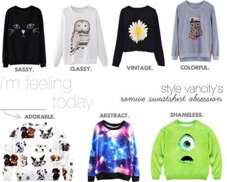 Romwe Sweatshirt Obsession, sweatshirt, fall, musthave, romwe, cute, adorable, classy, sassy, how to, wear, easy, outfits