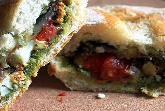 Vegan Roasted Vegetable and Pesto Sandwiches - Featuring ...