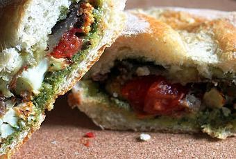 Vegan Roasted Vegetable and Pesto Sandwiches - Featuring Cauliflower ...