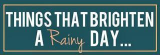 Random Thursday: Things That Brighten A Rainy Day...