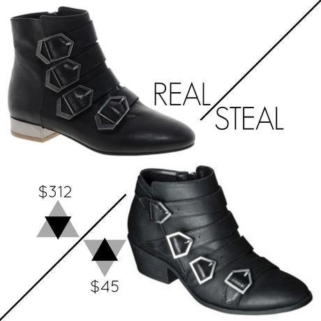 Kikadoo Fash Friday Real vs Steal Sam Edelman Nolan Buckle Ankle Boots Sam & Libby Paxton Strappy Ankle Boots.jpg