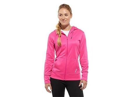Women's Pink Ribbon Hoodie Long Sleeve Tops Z83827