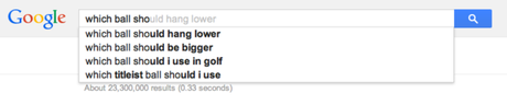 Golf, Golfers, Google Instant Search and The Human Condition