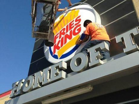 """I got this photo from USA Today, who says you can buy T-shirts with a """"Fries King"""" logo.  It's not clear whether they sell you a shirt if you tell them you're only going to wear it ironically."""