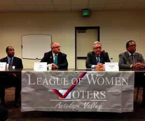 Nov. 5, 2013 General Municipal Election Candidates for Palmdale City Council include, from the left, Sir Daniel Duplechan, Mayor Pro Tem Tom Lackey, Richard Loa and Frederick Thompson.
