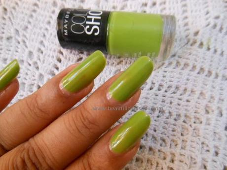 NOTD : Maybelline Color Show Nail Polish Mint Mojito (404)