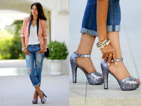 how to wear boyfriend jeans look feminine covet her closet trends 2013 blog celebrity fashion diy free shipping tutorial diy