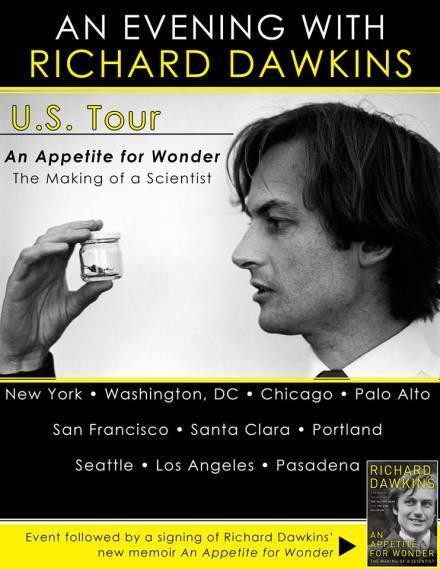 Richard Dawkins - Appetite for Wonder US Book Tour