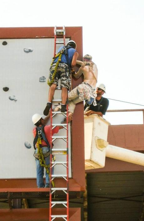 RiverRocks Climbing Wall Stacked Billboards by The Johnson Group