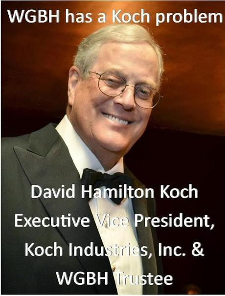 Rally to remove tea party enabler and climate change denier David Koch as a WGBH trustee