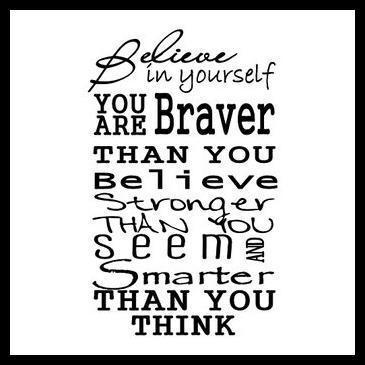 Encouragement believe