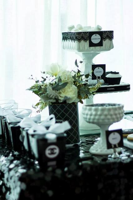 A Chanel Inspired Bridal Shower by Perfectly Sweet