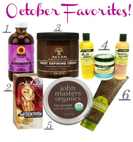 October Picks: Fall Natural Hair Care Favorites