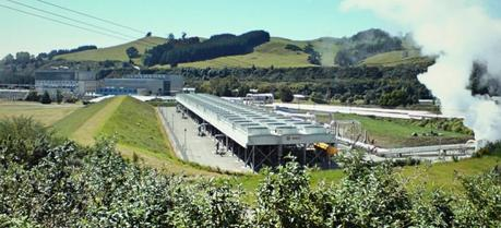 The Wairakei geothermal power plant, Region of Waikato, New Zealand.