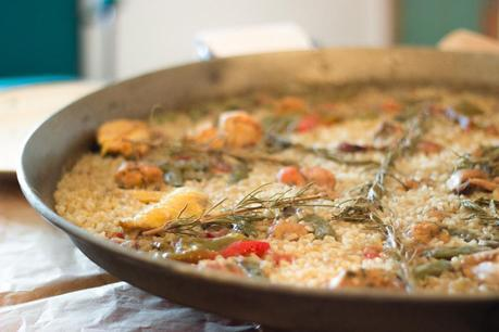 Paella at El Corralot farmhouse