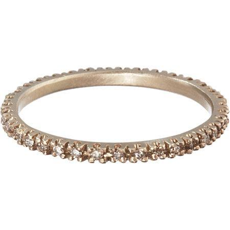 Anaconda brown brilliant cut diamond ring