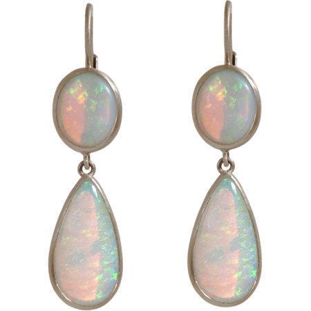 Anaconda Australian opal double drop diamond