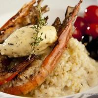 Grilled Shrimp and Champagne Butter Risotto