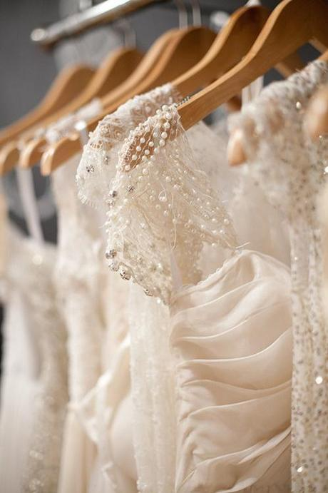 Pearl Embellished Wedding Dress Straps